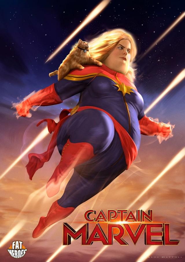 Chết cười khi phong cách của Thor Béo nhập vào các siêu anh hùng khác, tạo ra một vũ trụ Fat Heroes - Ảnh 6.