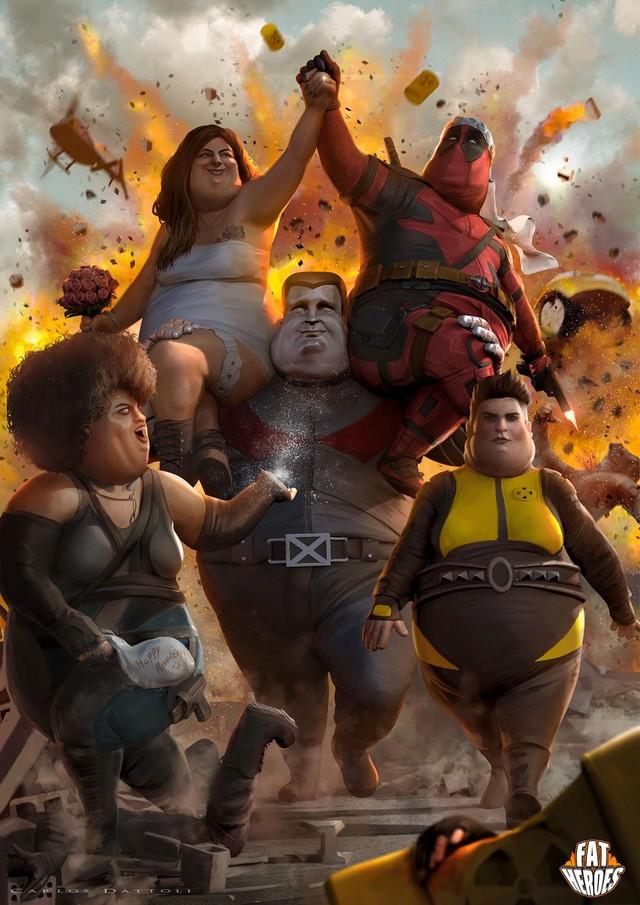 Chết cười khi phong cách của Thor Béo nhập vào các siêu anh hùng khác, tạo ra một vũ trụ Fat Heroes - Ảnh 8.