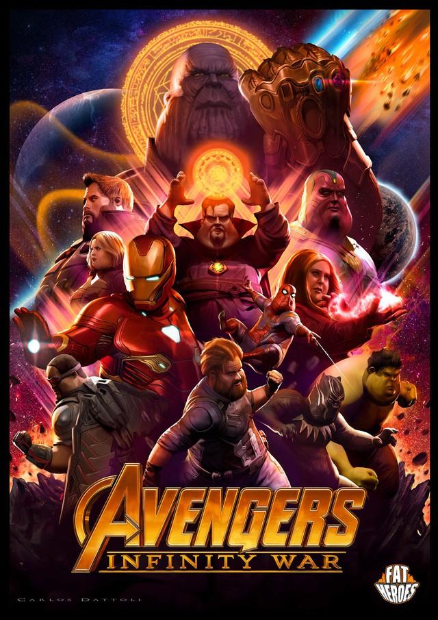 Chết cười khi phong cách của Thor Béo nhập vào các siêu anh hùng khác, tạo ra một vũ trụ Fat Heroes - Ảnh 9.