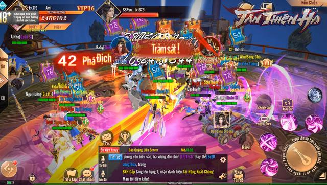 Video 5 phút trải nghiệm màn gọi hội chặn cổng thành trong game mới Tân Thiên Hạ: Tao yếu nhưng anh em tao đông! - Ảnh 9.