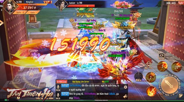 Video 5 phút trải nghiệm màn gọi hội chặn cổng thành trong game mới Tân Thiên Hạ: Tao yếu nhưng anh em tao đông! - Ảnh 2.
