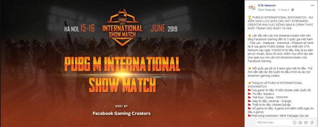 Tổ chức Giải đấu giao hữu quốc tế PUBG Mobile tại Việt Nam, Facebook Gaming là ai? - Ảnh 1.
