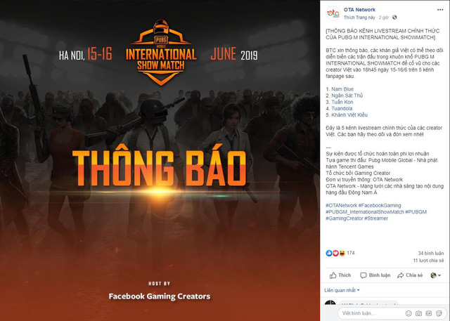 Tổ chức Giải đấu giao hữu quốc tế PUBG Mobile tại Việt Nam, Facebook Gaming là ai? - Ảnh 2.