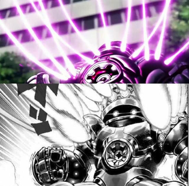 One-Punch Man: So độ ngầu của Genos trong trận chiến với người máy G4 ở phiên bản Anime và Manga - Ảnh 8.