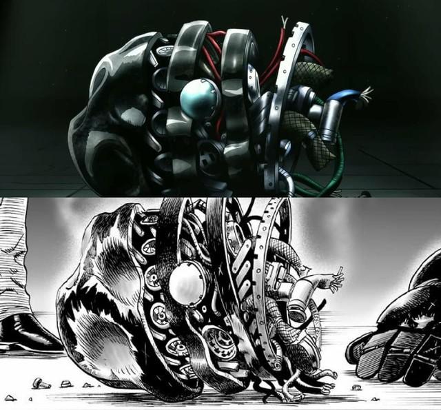 One-Punch Man: So độ ngầu của Genos trong trận chiến với người máy G4 ở phiên bản Anime và Manga - Ảnh 12.