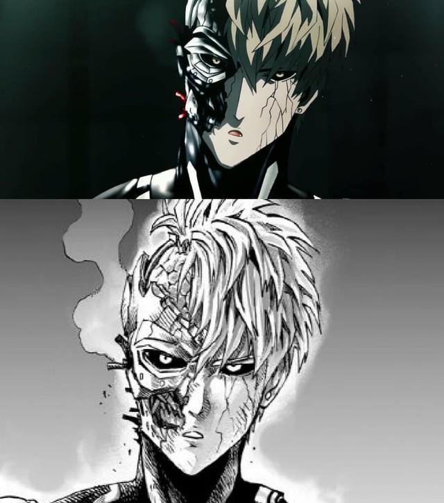 One-Punch Man: So độ ngầu của Genos trong trận chiến với người máy G4 ở phiên bản Anime và Manga - Ảnh 13.