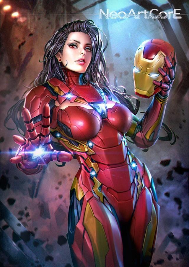 Ngắm loạt tranh vẽ nóng bỏng của biệt đội Avengers khi chuyển đổi giới tính - Ảnh 1.