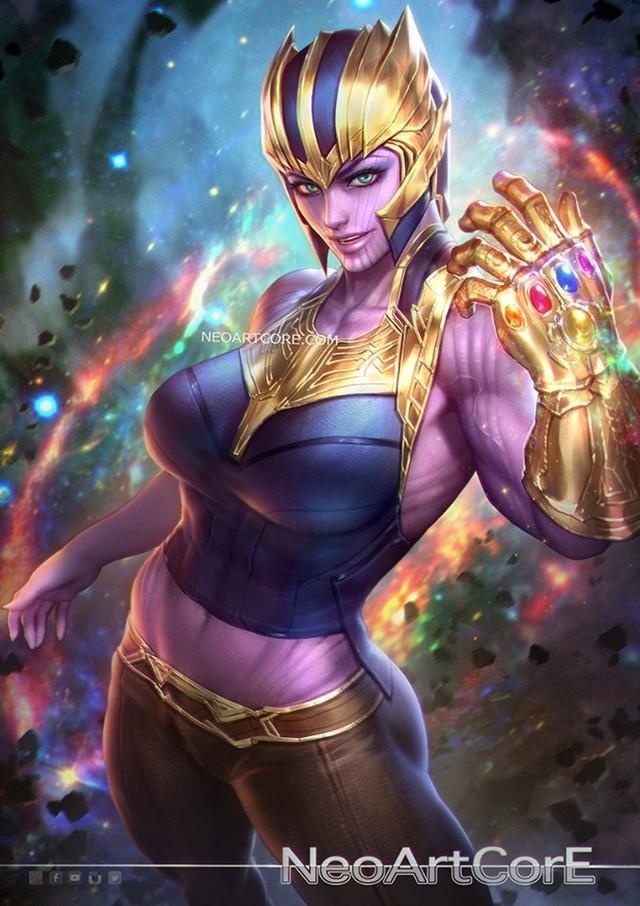 Ngắm loạt tranh vẽ nóng bỏng của biệt đội Avengers khi chuyển đổi giới tính - Ảnh 2.