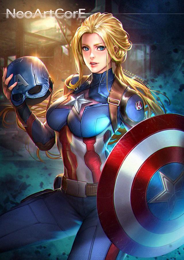 Ngắm loạt tranh vẽ nóng bỏng của biệt đội Avengers khi chuyển đổi giới tính - Ảnh 4.