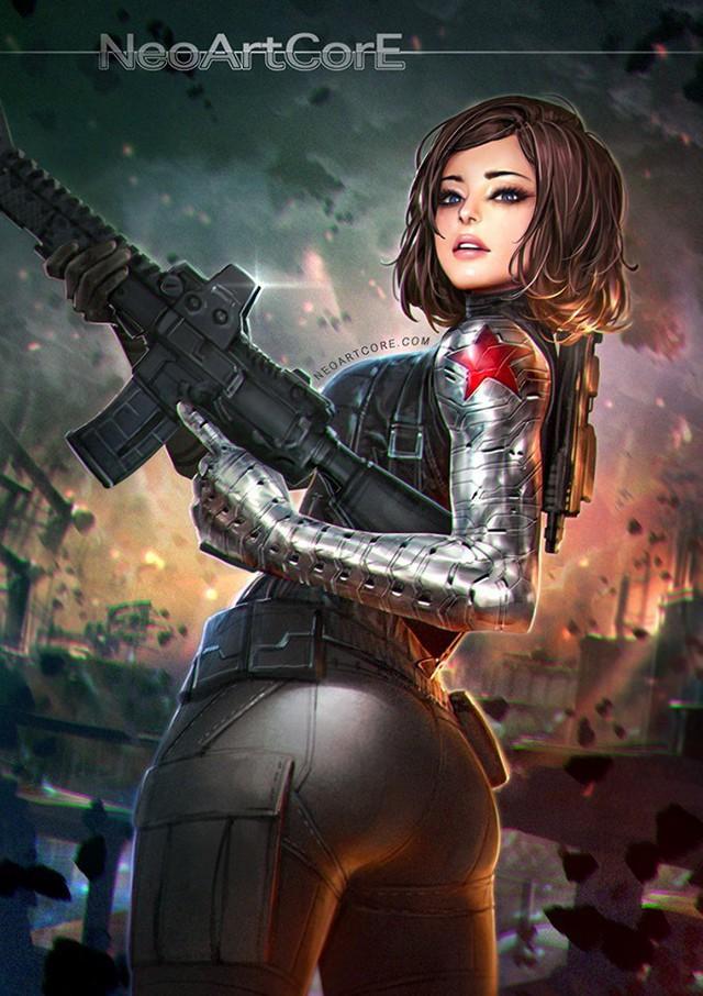 Ngắm loạt tranh vẽ nóng bỏng của biệt đội Avengers khi chuyển đổi giới tính - Ảnh 6.