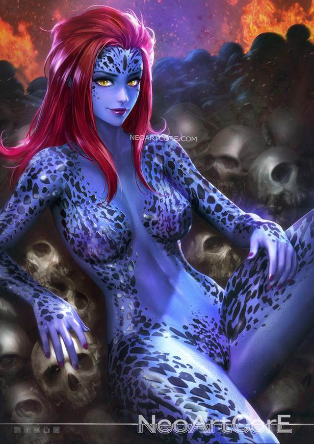 Ngắm loạt tranh vẽ nóng bỏng của biệt đội Avengers khi chuyển đổi giới tính - Ảnh 9.