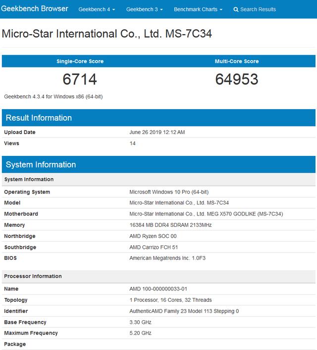 Lộ điểm số của CPU chiến game quái vật AMD Ryzen 9 3950X, 16 nhân siêu khủng - Ảnh 2.
