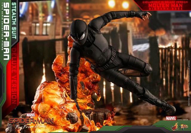 Cận cảnh bộ giáp đen siêu ngầu của Nhện Nhọ trong Spider-Man: Far From Home - Ảnh 4.