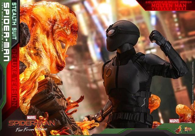 Cận cảnh bộ giáp đen siêu ngầu của Nhện Nhọ trong Spider-Man: Far From Home - Ảnh 9.