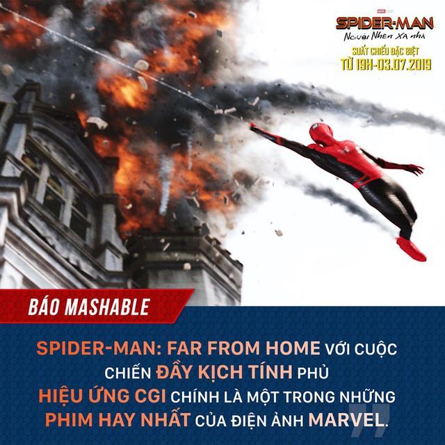 Báo quốc tế đồng loạt khen ngợi Spider-Man: Far From Home, một bộ phim Marvel vượt xa kỳ vọng - Ảnh 6.