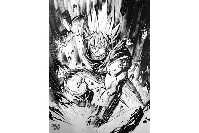 Các nhân vật trong Dragon Ball khác lạ dưới nét vẽ của những họa sĩ truyện tranh nổi tiếng - Ảnh 5.