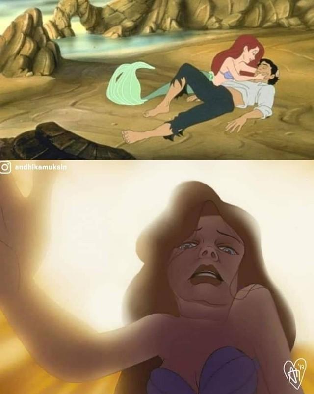 Ngắm hình ảnh các công chúa Disney với biểu cảm chân thực như thế này, hẳn nhiều người sẽ cảm thấy bị đục khoét tuổi thơ - Ảnh 3.