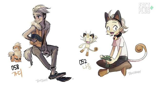"""Sốc: Không ngờ khi được """"nhân cách hóa"""", một số Pokemon lại có thể trông... ngọt nước đến thế này - Ảnh 41."""