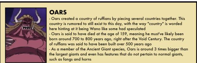 One Piece: Oars có thể chính là người khổng lồ đã tạo ra vương quốc Wano từ 500 năm trước? - Ảnh 1.
