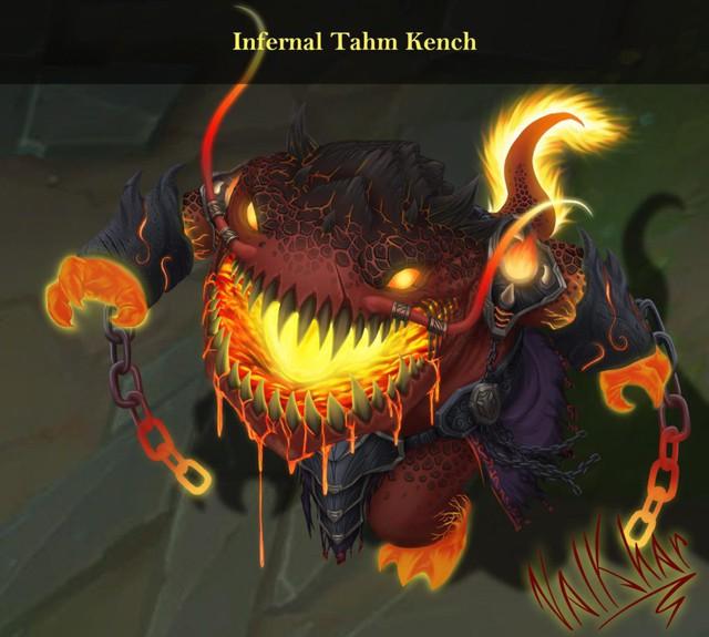 LMHT: Đợi Riot quá lâu, fan tự thiết kế skin Tahm Kench Hỏa Ngục đẹp không cưỡng nổi - Ảnh 1.