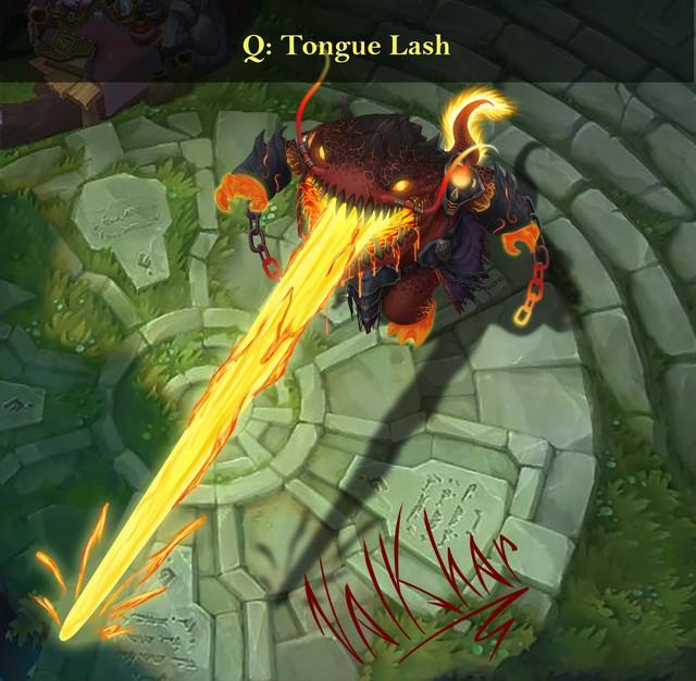 LMHT: Đợi Riot quá lâu, fan tự thiết kế skin Tahm Kench Hỏa Ngục đẹp không cưỡng nổi - Ảnh 3.