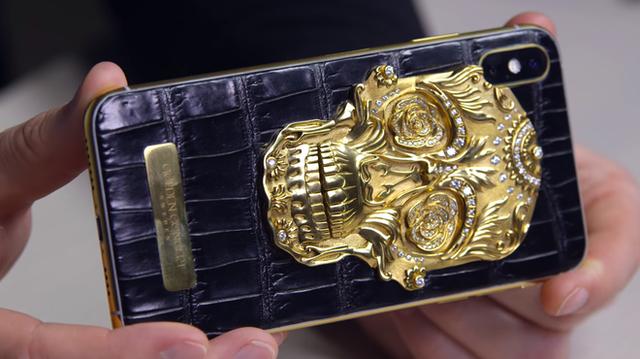 Cận cảnh chiếc iPhone xịn nhất thế giới: Bọc da cá sấu, mạ vàng 18K, nạm trăm viên kim cương - Ảnh 4.