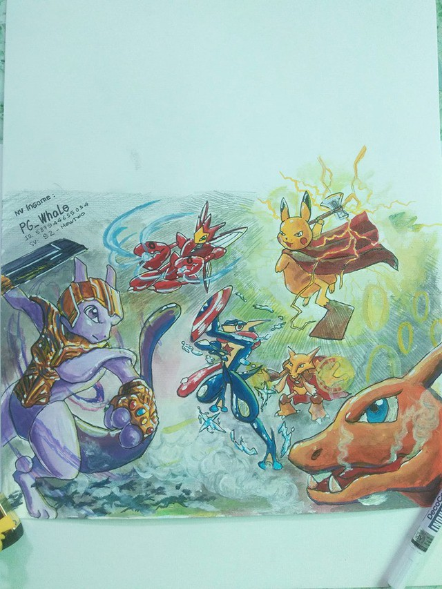 Fan Pokemon mà nhìn thấy bức tranh này chắc chắn thích mê, ăn gì mà vẽ đẹp kinh! - Ảnh 8.