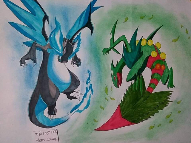 Fan Pokemon mà nhìn thấy bức tranh này chắc chắn thích mê, ăn gì mà vẽ đẹp kinh! - Ảnh 9.