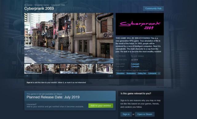 Xuất hiện tựa game nhái Cyberpunk 2077, bị phát hiện nhanh chóng đổi tên thành Cyberprank 2069 - Ảnh 1.