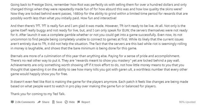 LMHT - Cộng đồng Reddit gay gắt: Eternal là đại diện cho một mùa giải 2019 siêu cấp tệ hại của Riot - Ảnh 2.