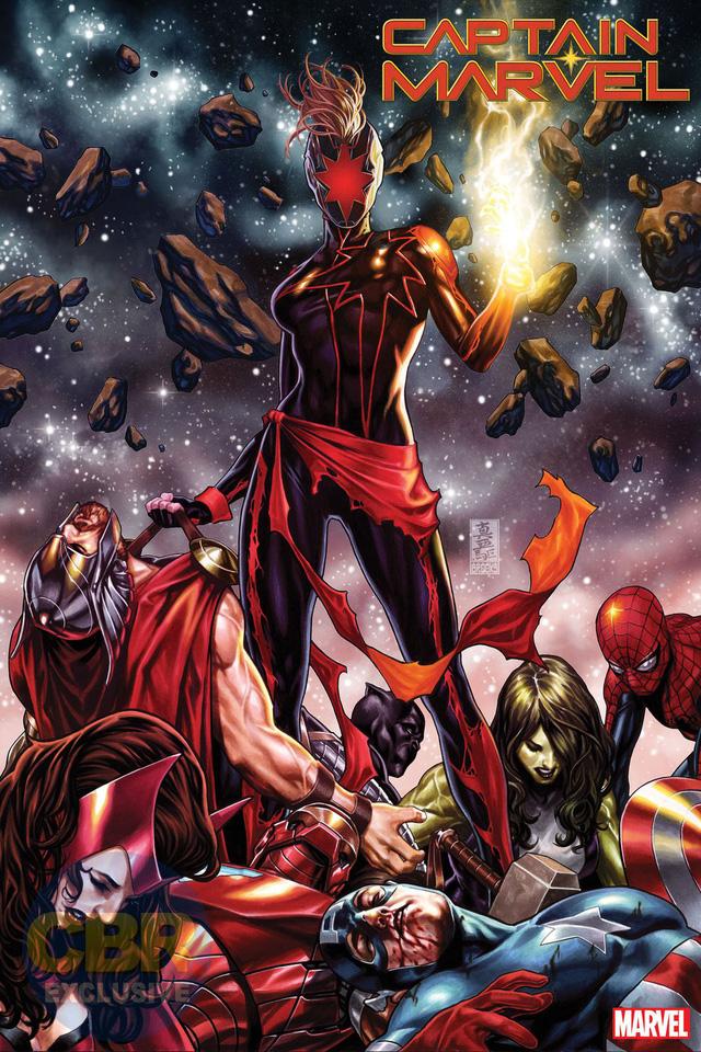 Tin sốc: Captain Marvel hắc ám vừa... vặt đầu của thần Thor? - Ảnh 1.