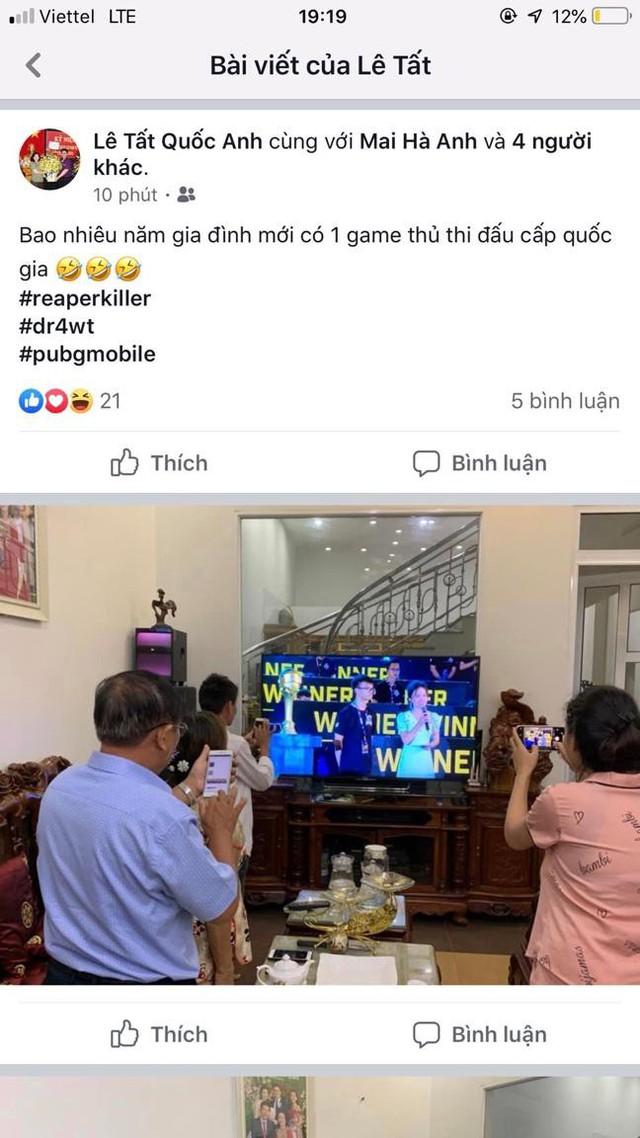 Hạnh phúc game thủ: Cả nhà quây quần xem livestream giải đấu, sẻ chia niềm vui chiến thắng - Ảnh 4.