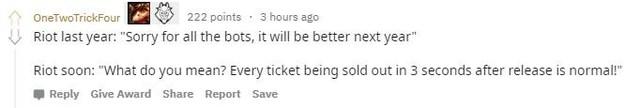 LMHT: Riot Games bị fan phàn nàn chê trách vì tiếp tục bán vé CKTG quá muộn  - Ảnh 4.