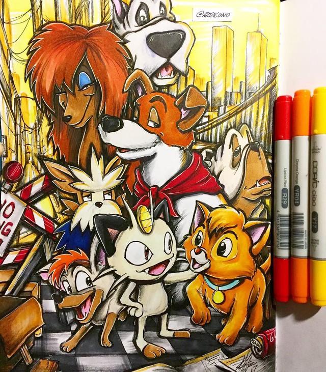 Ngắm loạt tranh đáng yêu của các loài Pokemon khi gia nhập đại gia đình Disney - Ảnh 11.