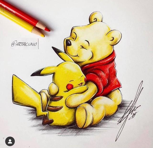 Ngắm loạt tranh đáng yêu của các loài Pokemon khi gia nhập đại gia đình Disney - Ảnh 1.
