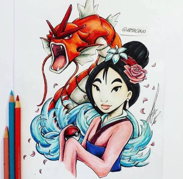 Ngắm loạt tranh đáng yêu của các loài Pokemon khi gia nhập đại gia đình Disney - Ảnh 3.