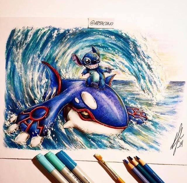 Ngắm loạt tranh đáng yêu của các loài Pokemon khi gia nhập đại gia đình Disney - Ảnh 4.