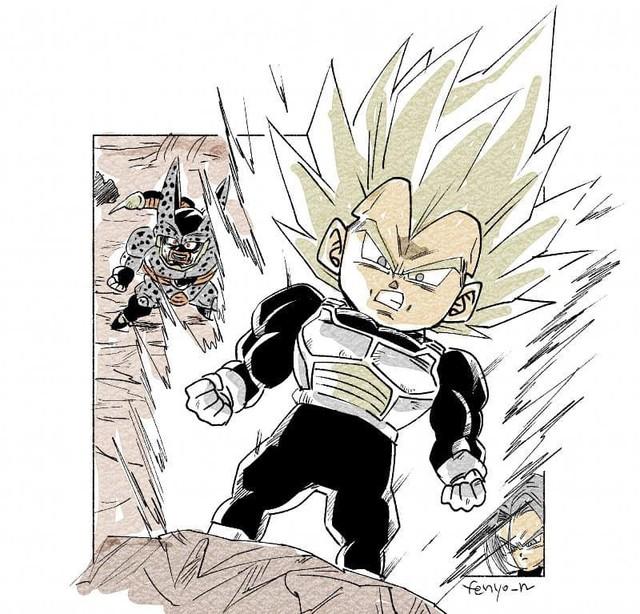 Trở về tuổi thơ với loạt fanart Dragon Ball theo phong cách chibi cực chất - Ảnh 14.