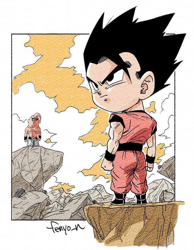 Trở về tuổi thơ với loạt fanart Dragon Ball theo phong cách chibi cực chất - Ảnh 20.