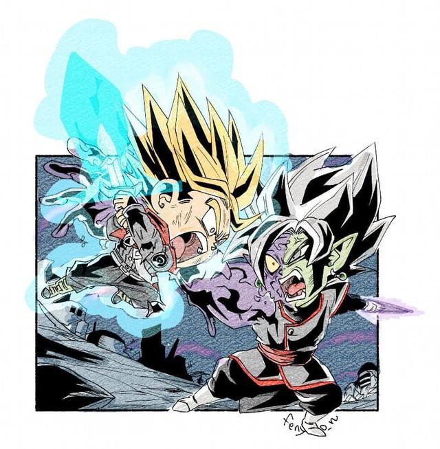 Trở về tuổi thơ với loạt fanart Dragon Ball theo phong cách chibi cực chất - Ảnh 21.