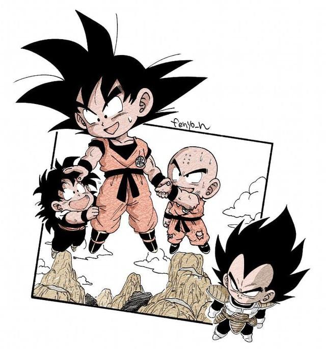 Trở về tuổi thơ với loạt fanart Dragon Ball theo phong cách chibi cực chất - Ảnh 5.