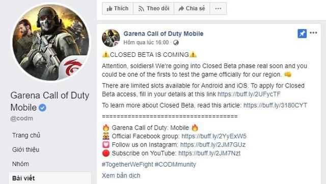 Garena mở Close Beta cho Call of Duty Mobile, game thủ VN không nên bỏ lỡ - Ảnh 1.