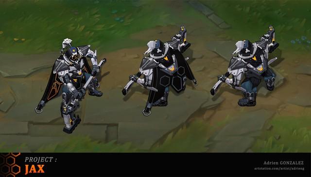 LMHT: Tiếp tục xuất hiện bộ trang phục Jax Siêu Phẩm với bộ cánh đen tuyền ngầu bá cháy - Ảnh 3.