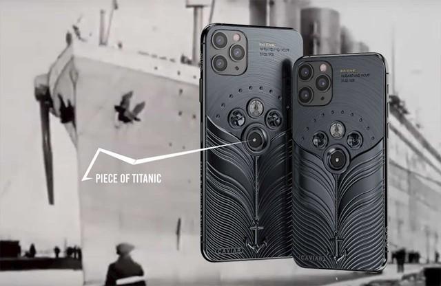 Phiên bản iPhone 11 được chế tác từ mảnh vỡ tàu Titanic và tàu vũ trụ Vostok-1, giá từ 784 triệu đồng - Ảnh 2.