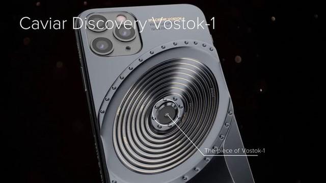 Phiên bản iPhone 11 được chế tác từ mảnh vỡ tàu Titanic và tàu vũ trụ Vostok-1, giá từ 784 triệu đồng - Ảnh 3.
