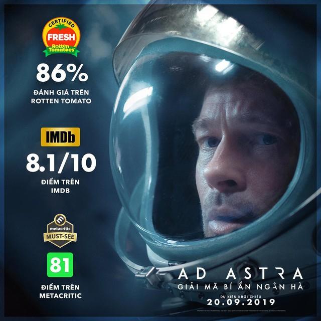 Brad Pitt cùng siêu phẩm Ad Astra hứa hẹn sẽ mê hoặc khán giả đắm chìm vào không gian vũ trụ đầy hư ảo - Ảnh 1.
