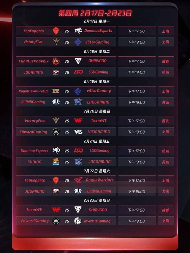 Chính thức công bố lịch thi đấu LPL mùa xuân 2020: Khai màn với trận Siêu kinh điển IG - FPX - Ảnh 5.
