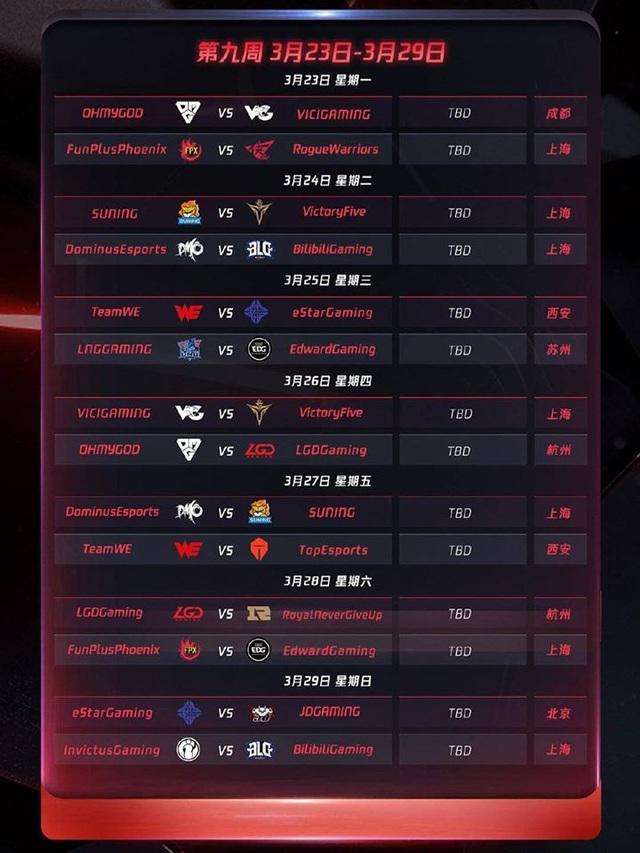 Chính thức công bố lịch thi đấu LPL mùa xuân 2020: Khai màn với trận Siêu kinh điển IG - FPX - Ảnh 10.