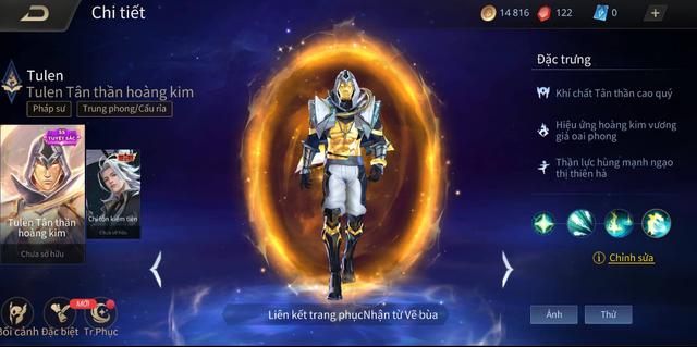 Liên Quân Mobile: Game thủ tốn hàng trăm nghìn vàng vẫn không mua được Tulen Tân Thần Hoàng Kim - Ảnh 1.