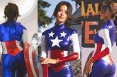 """Cosplay đội trưởng Mỹ siêu sexy, nàng hot girl """"bị"""" fan hâm mộ rần rần xin info, đại náo trang cá nhân"""